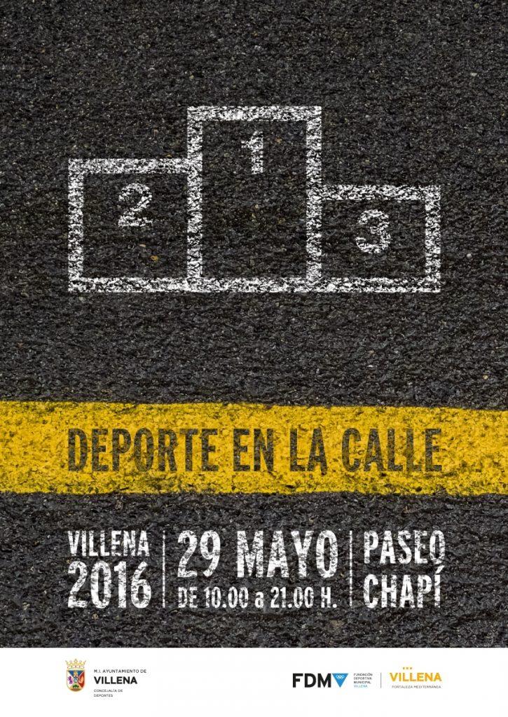 Cartel redes Deporte en la calle 2016