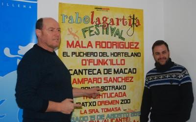 El Festival Rabo Lagartija llegará a Villena en el mes de agosto, como nueva propuesta musical de la promotora Sufriendo&Gozando