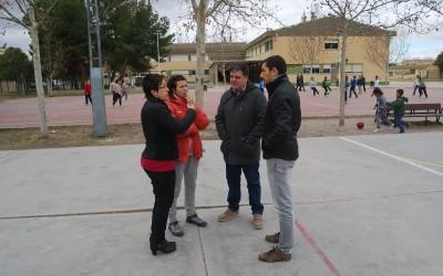 Visita del concejal de Deportes a las instalaciones deportivas de los colegios