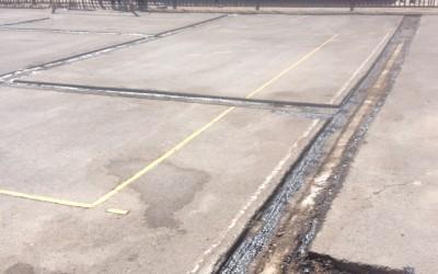 Comienzan las obras de reparación de las pistas escolares