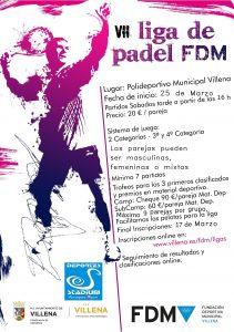 cartel VII Liga de Padel
