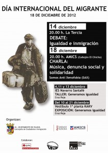 CARTEL MIGRANTE 2012
