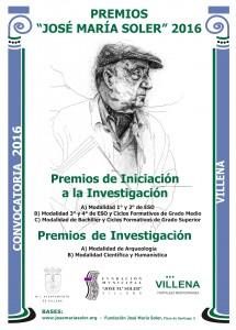 Cartel premios José María Soler 2016