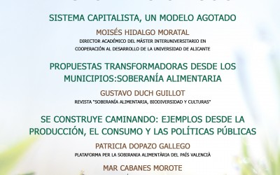 Villena presenta iniciativas sociales transformadoras para un nuevo sistema económico