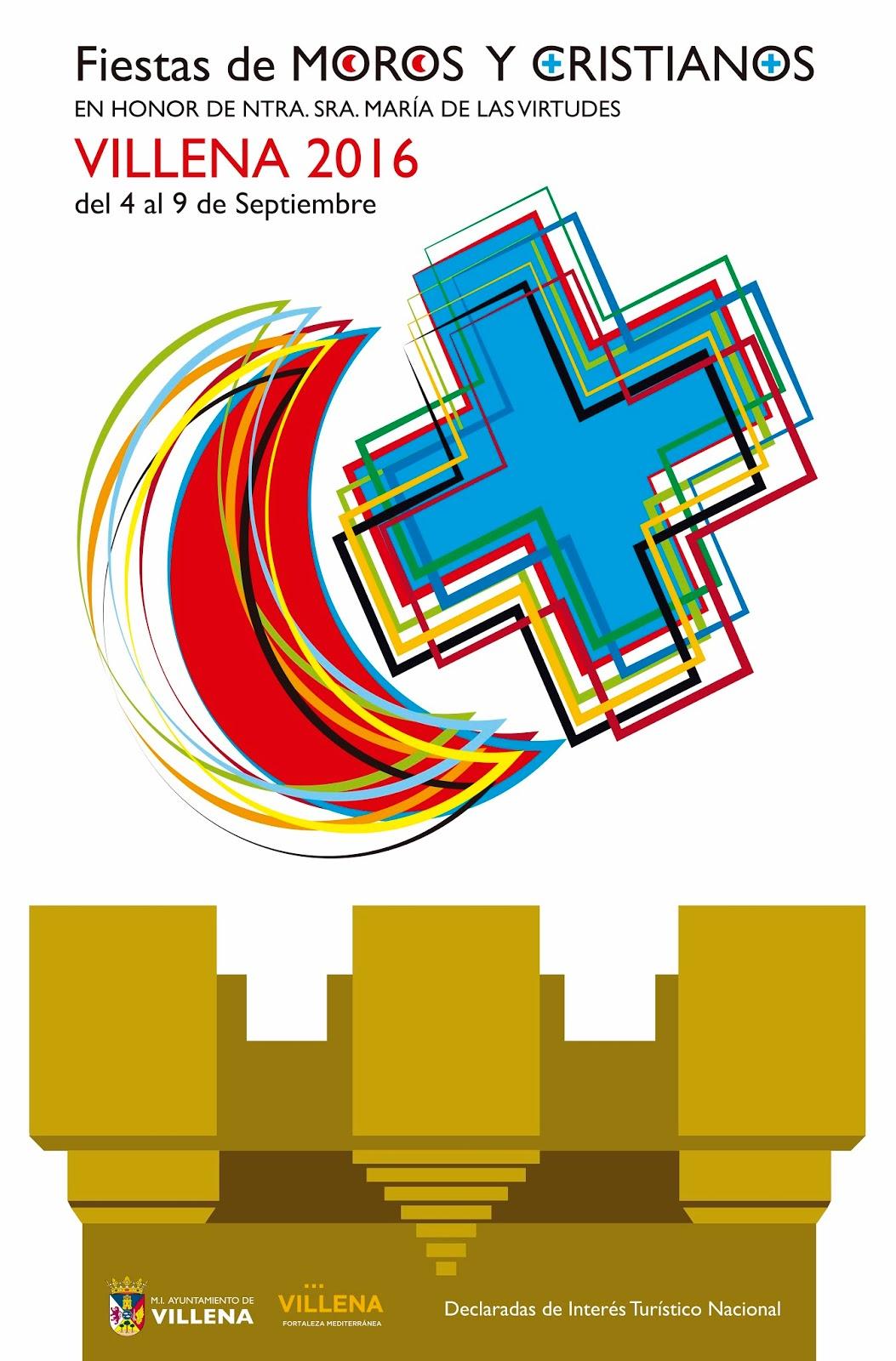 2016 CARTEL FIESTAS MOROS Y CRISTIANOS ANTONIO CHISPES