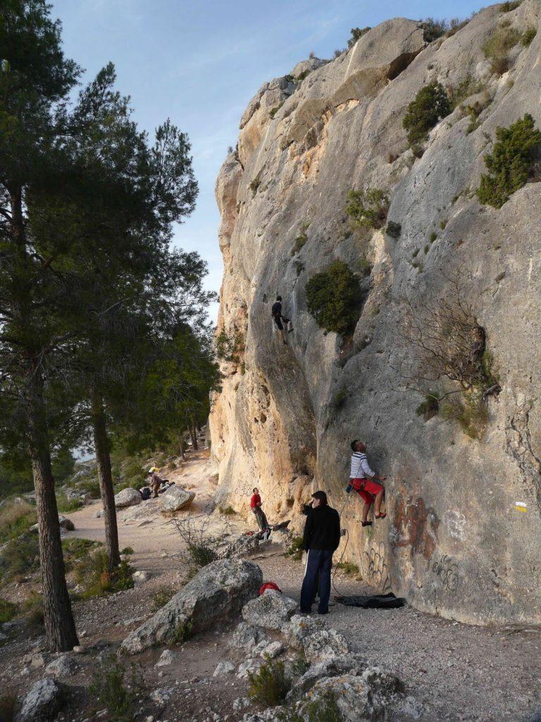 escalada peña rubia