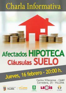 Cartel charla CLÁUSULAS SUELO