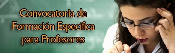 Convocatoria de cursos de formación para el profesorado