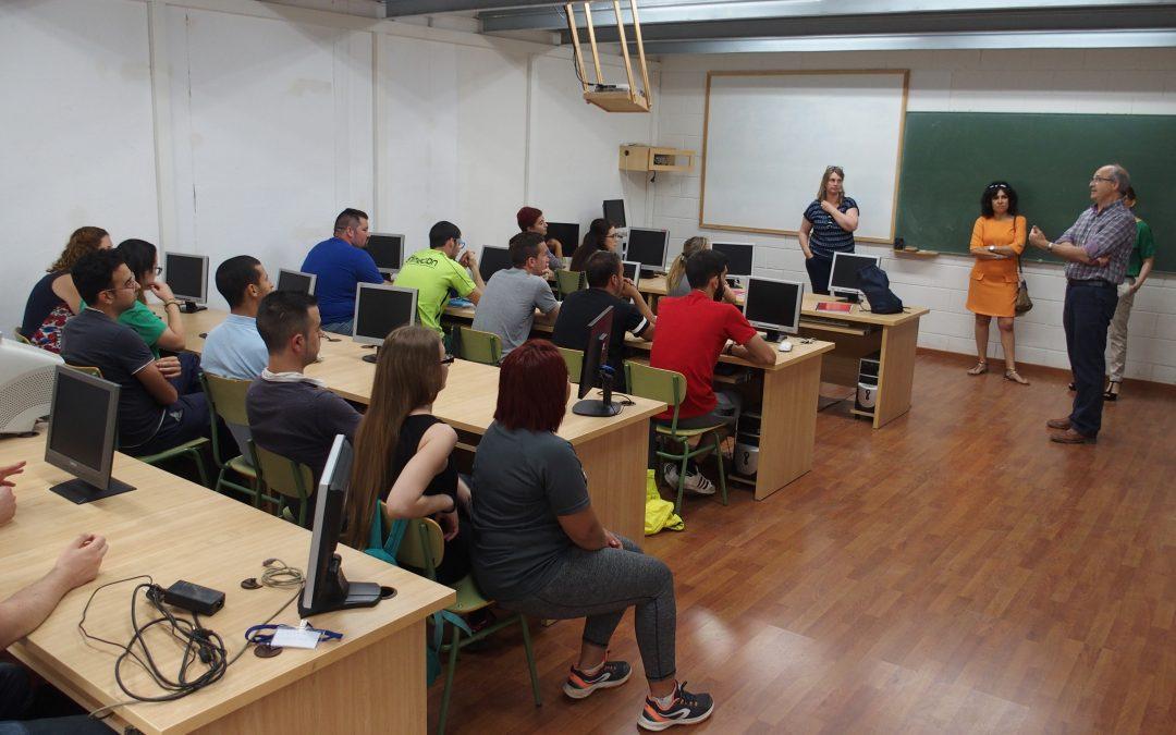 Visita al alumnado del taller de empleo Vial Ecológico III