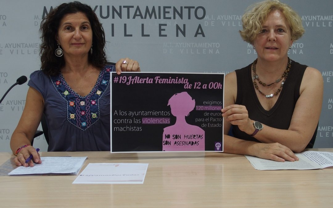 Encierro en el Ayuntamiento de Villena contra la violencia de género
