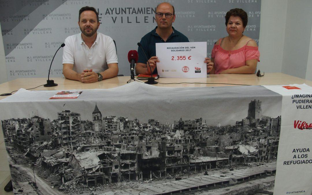 El VEM recauda 2.355 euros para las personas refugiadas de la guerra de Siria