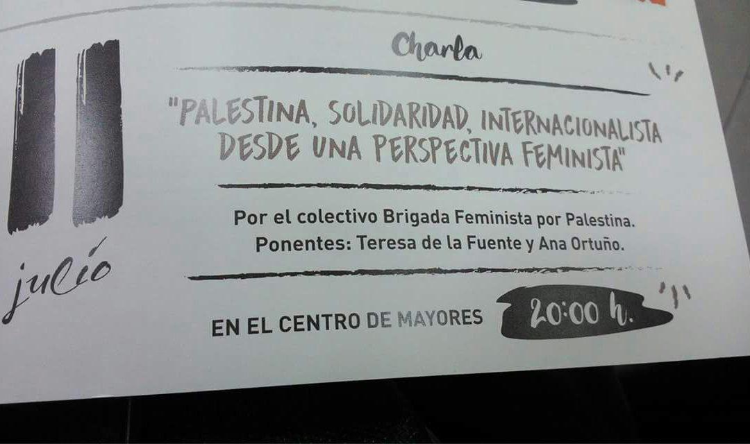 Jornada feminista sobre Palestina hoy en Villena