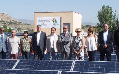 Rafael Climent visita en Villena la mayor instalación fotovoltaica para autoconsumo de la Comunidad Valenciana