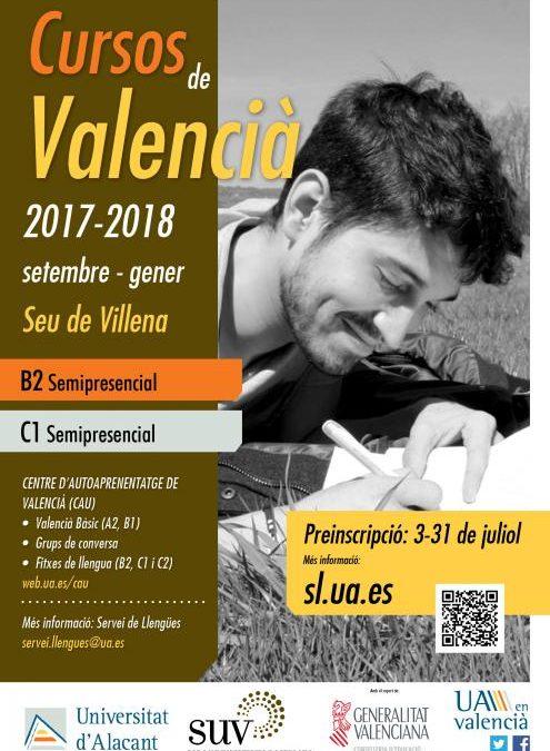 Cursos semipresenciales de Valenciano en la sede universitaria