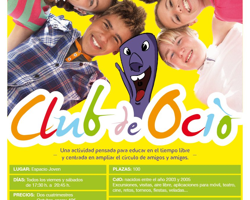 INSCRIPCIÓN CLUB DE OCIO 2017/2018