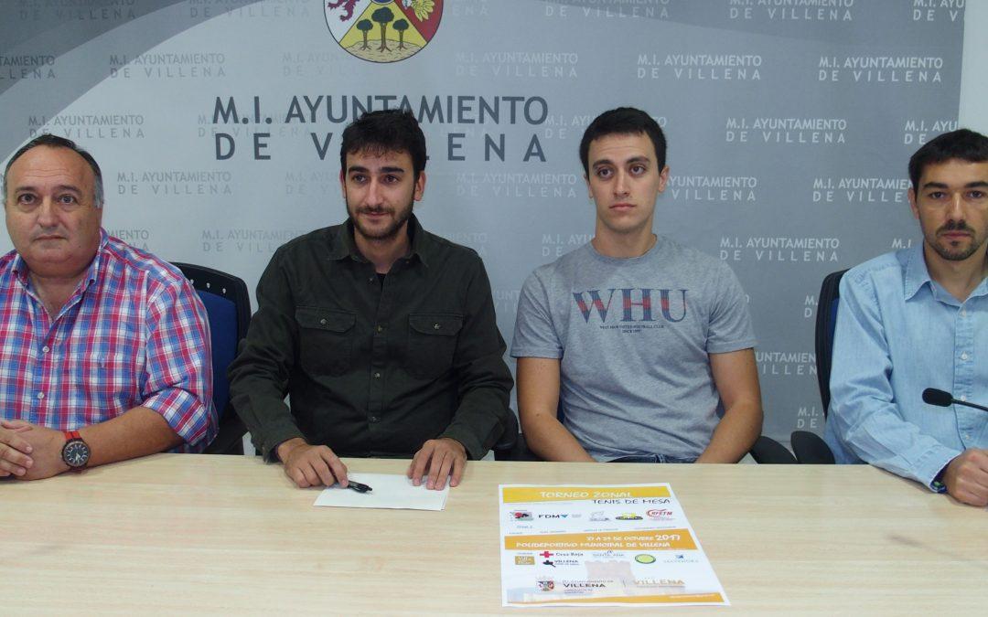 Torneo clasificación al Campeonato de España de tenis de mesa en Villena