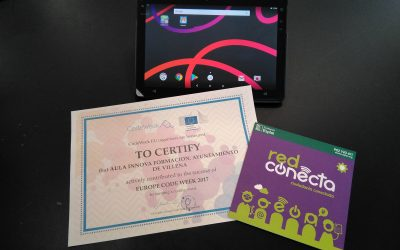 Aula Innova es premiada por su participación en la European Code Week