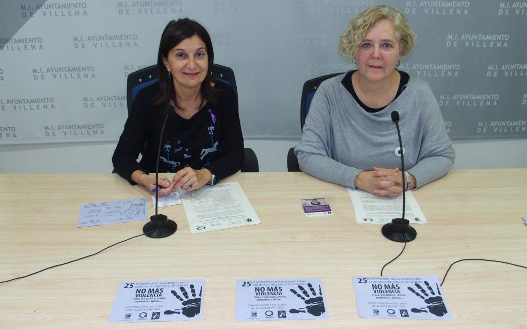 Villena se suma al Día Internacional Contra la Violencia de Género