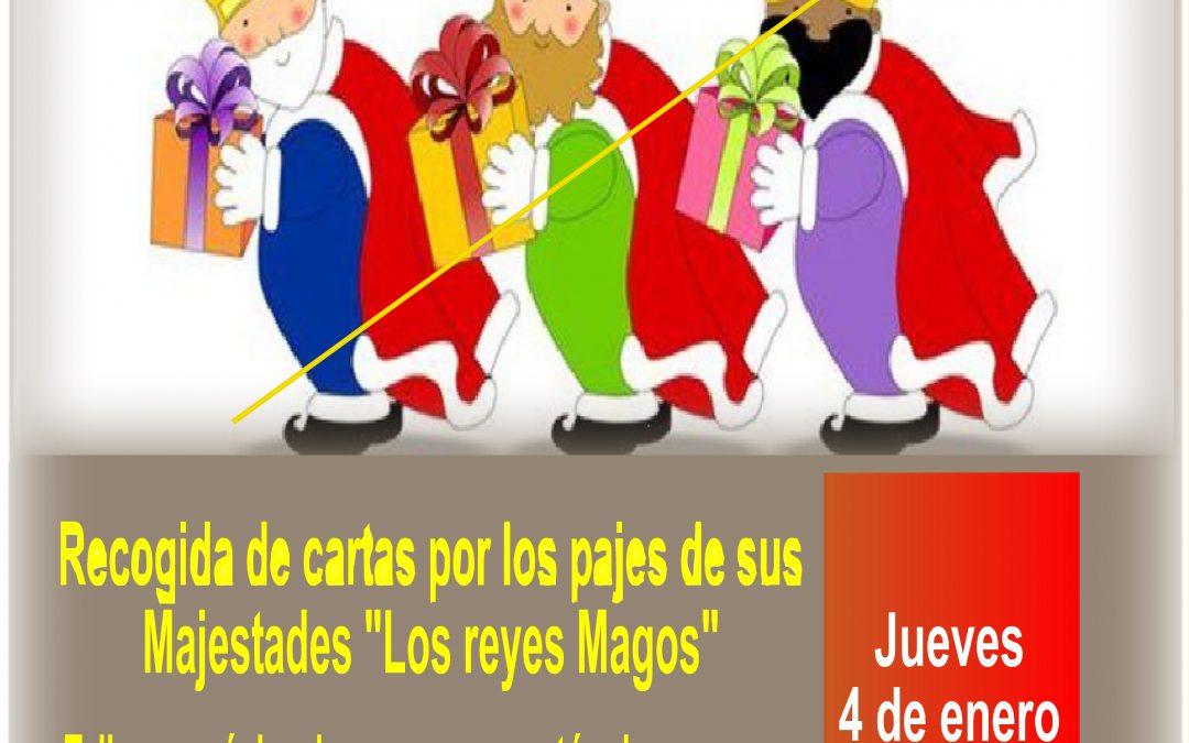 """YA VIENEN!!! Recogida de cartas por los pajes de """"Los reyes Magos de Oriente"""""""