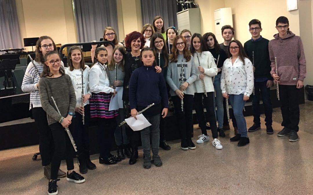Fotografías audición alumnos de Flauta