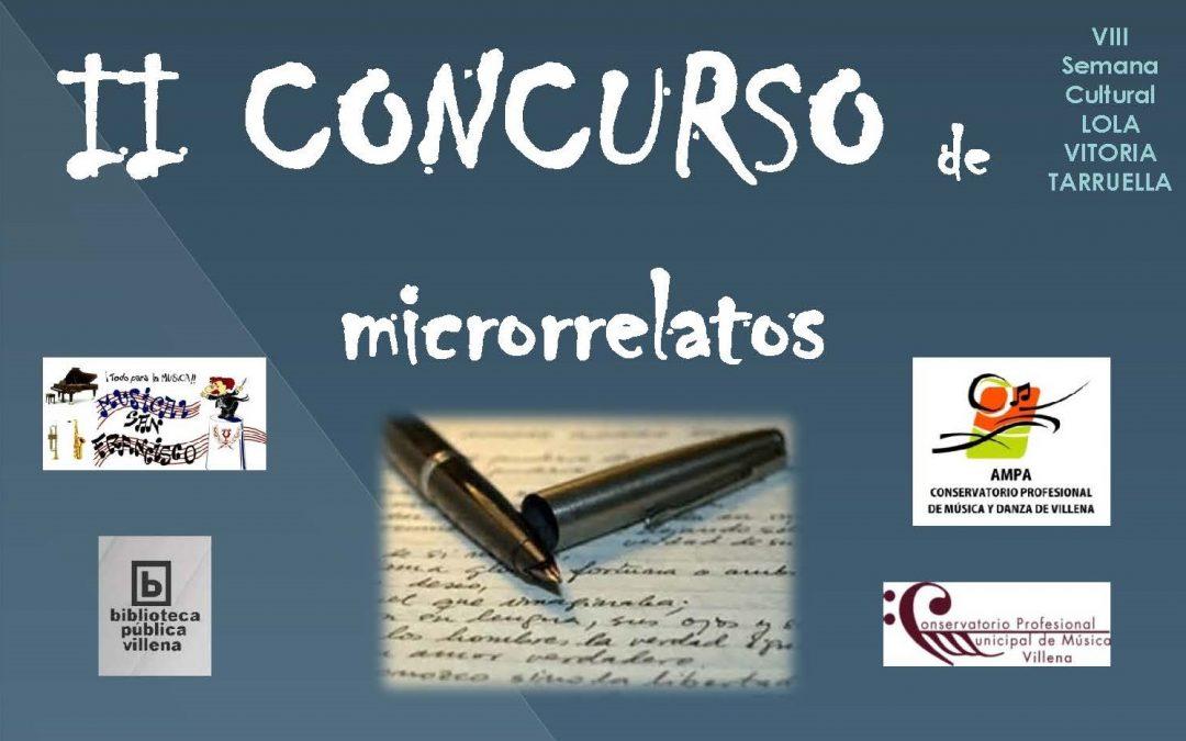 II Concurso de Microrrelatos