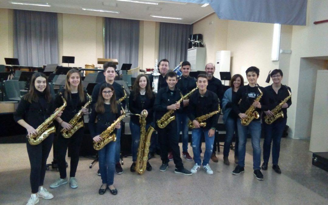 Fotografías audición alumnos de Saxofón