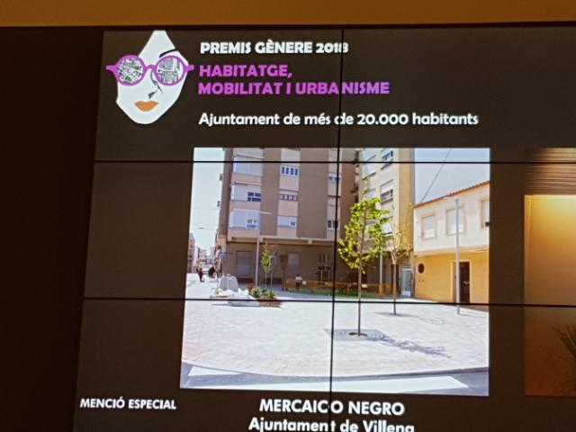 El Mercaico Negro presente en los Premios de Movilidad, Urbanismo y Perspectiva de Género de la Generalitat