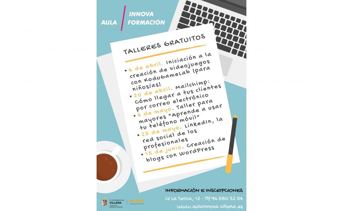 Actividades gratuitas para el segundo semestre del año en Aula Innova