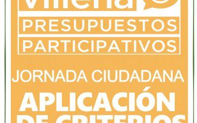 Jornada final de Aplicación de Criterios de los Presupuestos Participativos