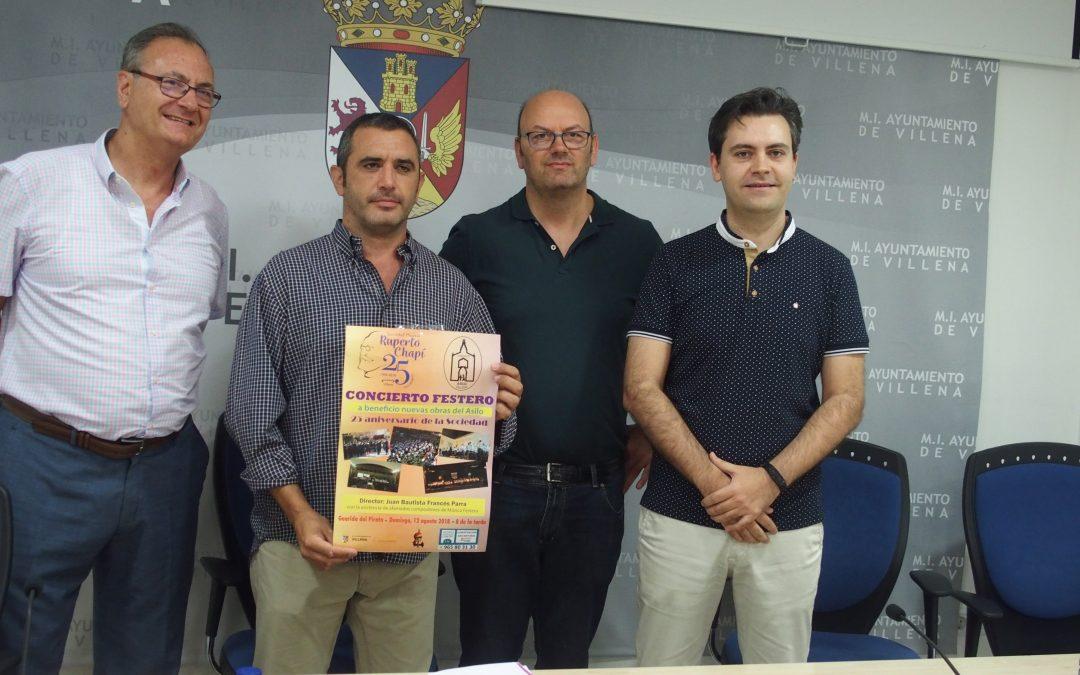 SM Ruperto Chapí destina los fondos del concierto de este año a la Asociación Pro-Restauración del Asilo