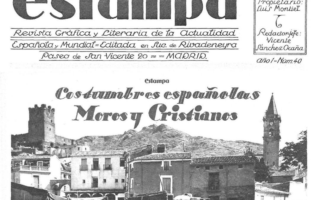 """Moros y Cristianos en 1928 (Artículo revista """"Estampa"""", oct. 1928 n.40"""