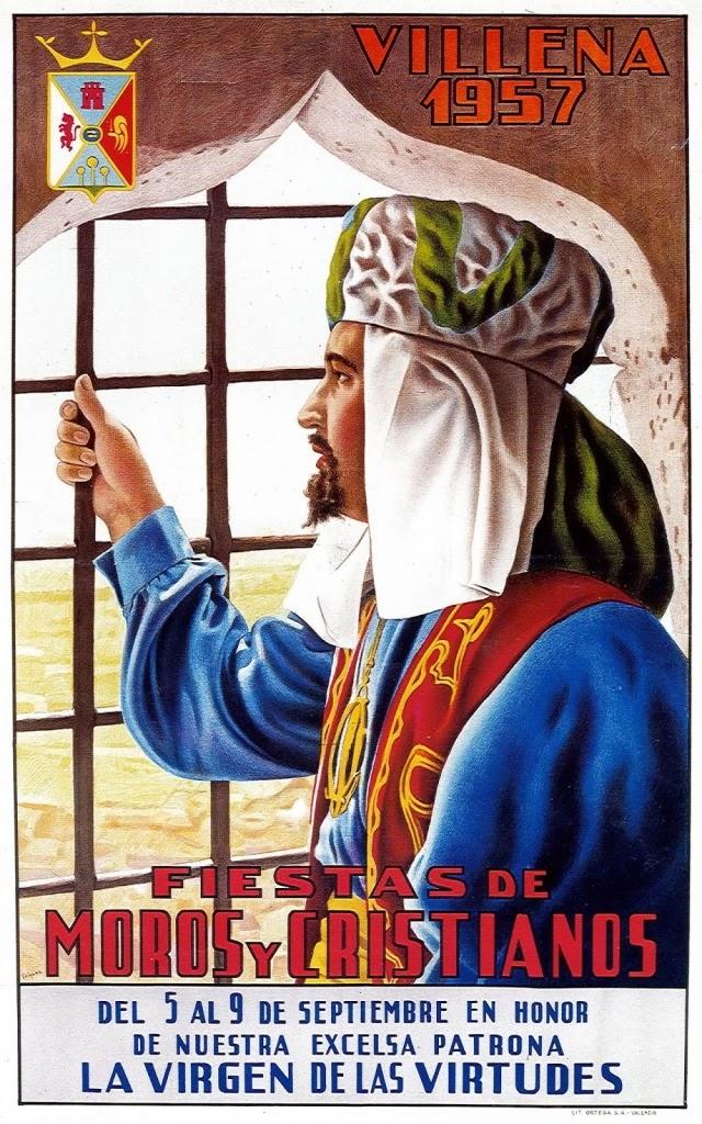 cartel moros y cristianos 1957