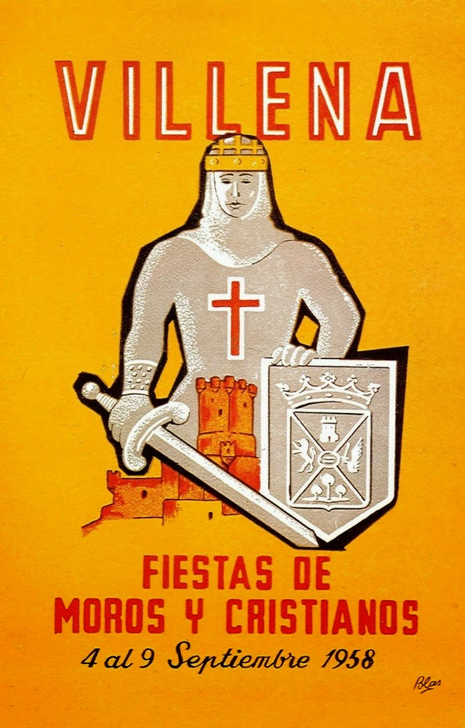 cartel moros y cristianos 1958