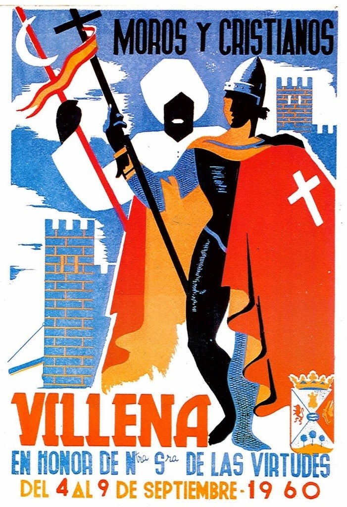 cartel moros y cristianos 1960