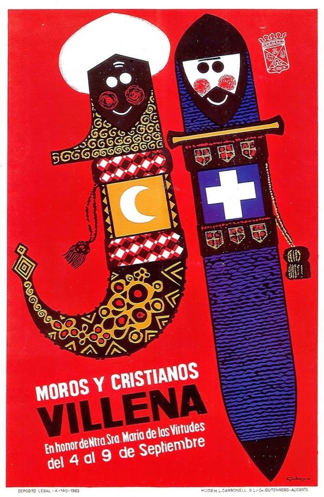 cartel moros y cristianos 1963