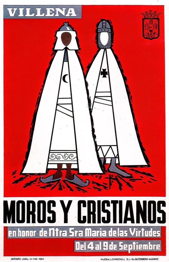cartel moros y cristianos 1964