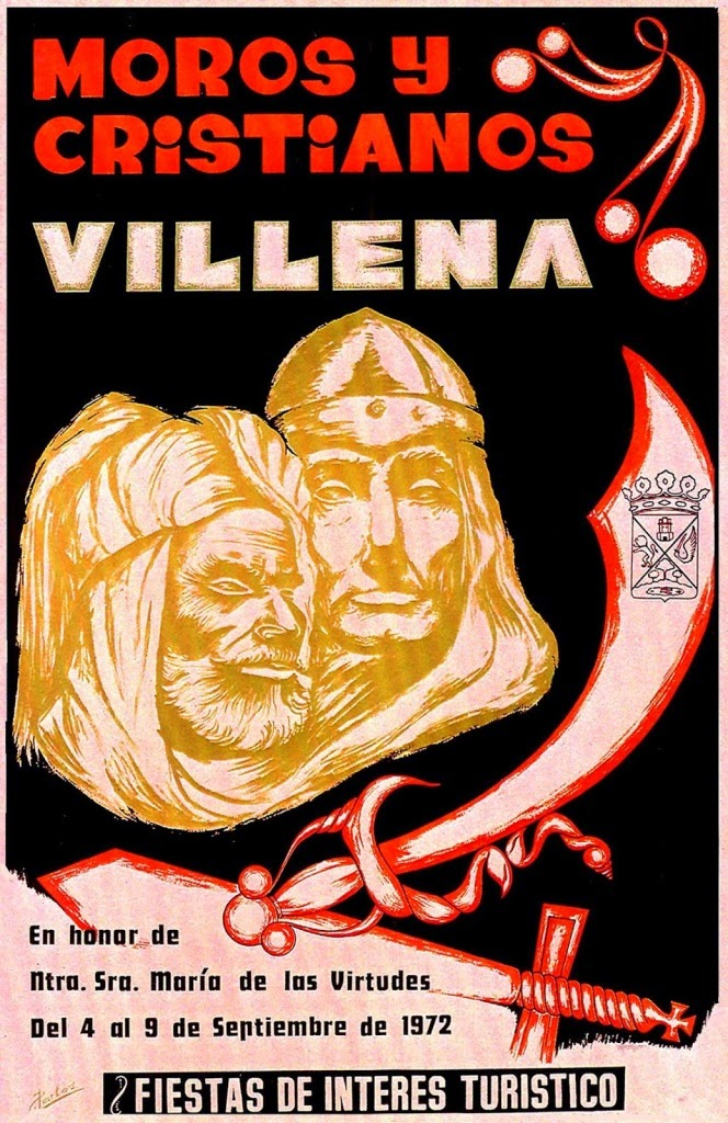 cartel moros y cristianos 1972