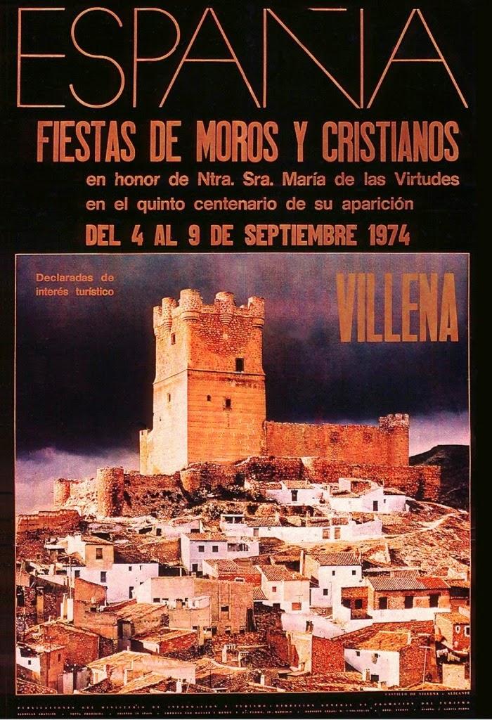 cartel moros y cristianos 1974