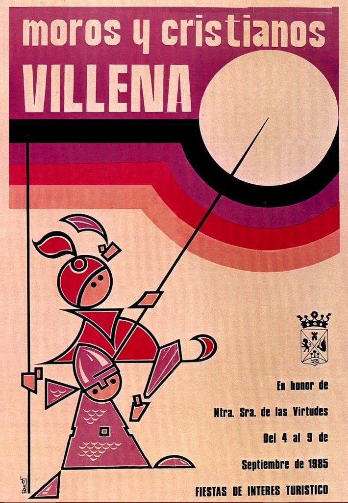 cartel moros y cristianos 1985