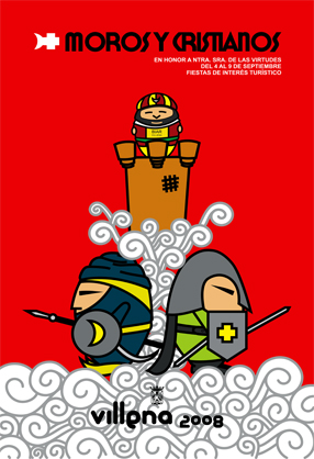 cartel moros y cristianos 2008