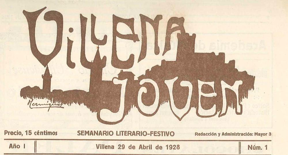 """Revista """"Villena Joven"""" -1928"""