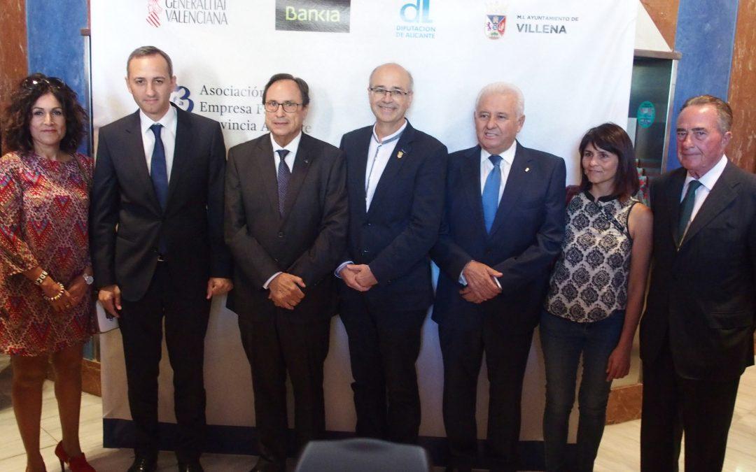 La Asociación de la Empresa Familiar de Alicante entrega sus premios anuales en Villena