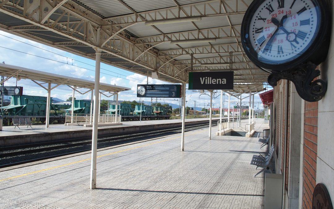El lunes se inaugura la nueva frecuencia de trenes entre Alicante y Villena