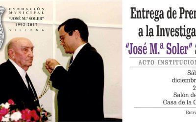 Entrega de premios de la Fundación José María Soler 2018