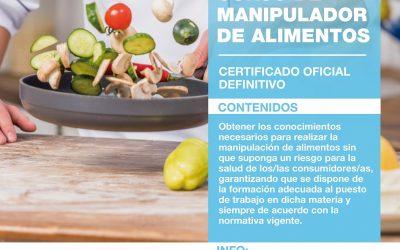 CURSOS DE MANIPULADOR/A DE ALIMENTOS