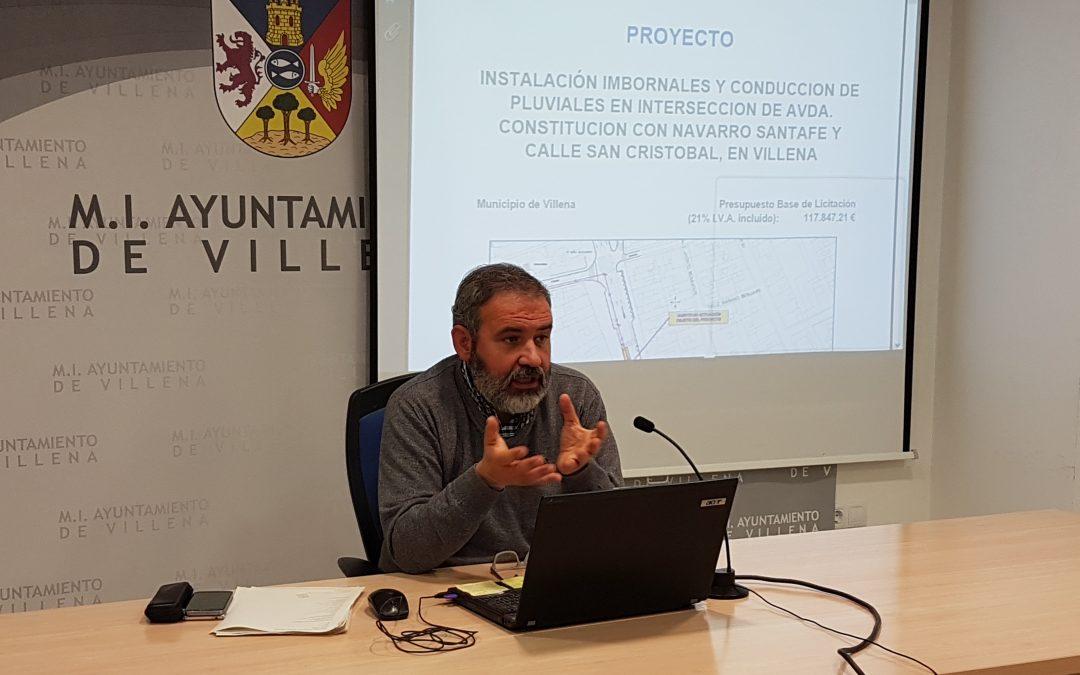 Obras para solucionar la red de pluviales en el centro de la ciudad