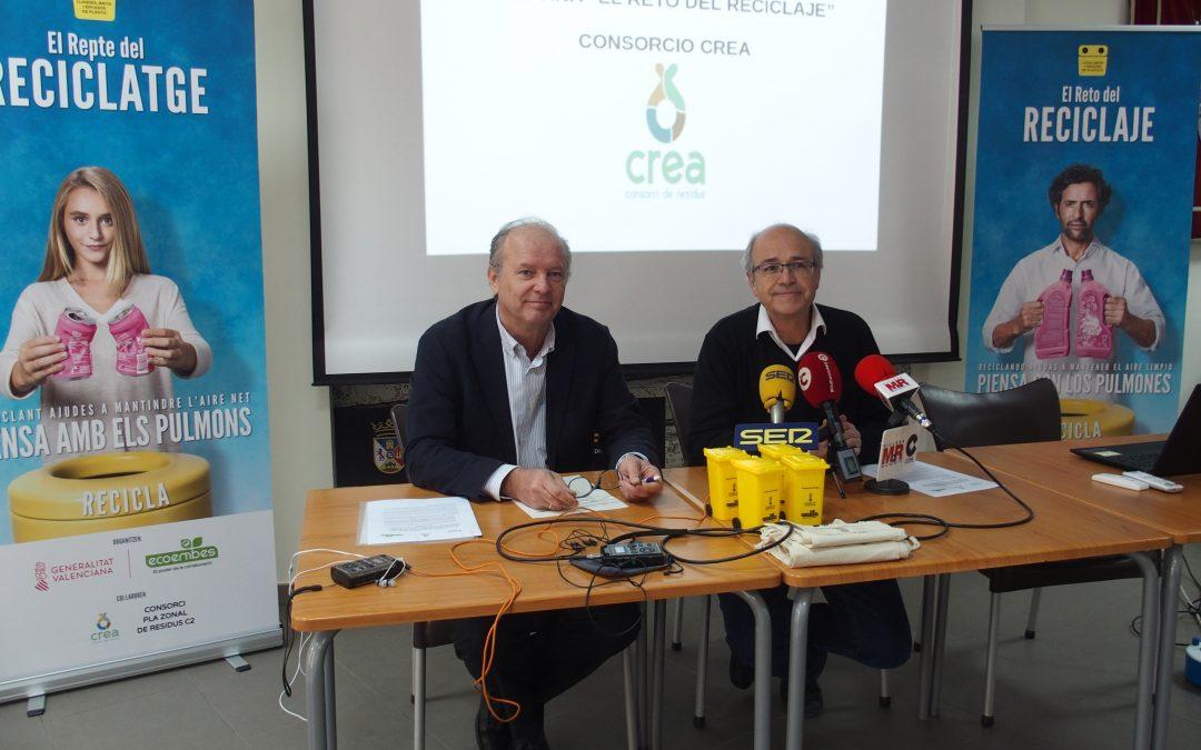 """Villena se une al """"Reto del Reciclaje"""" impulsado por Generalitat, el Consorcio CREA y Ecoembes"""