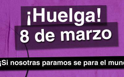 Suspensión de ruedas de prensa por la huelga feminista del 8 de marzo