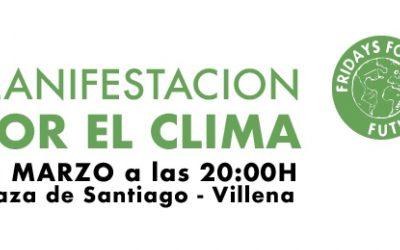 Villena se une a las movilizaciones contra el cambio climático
