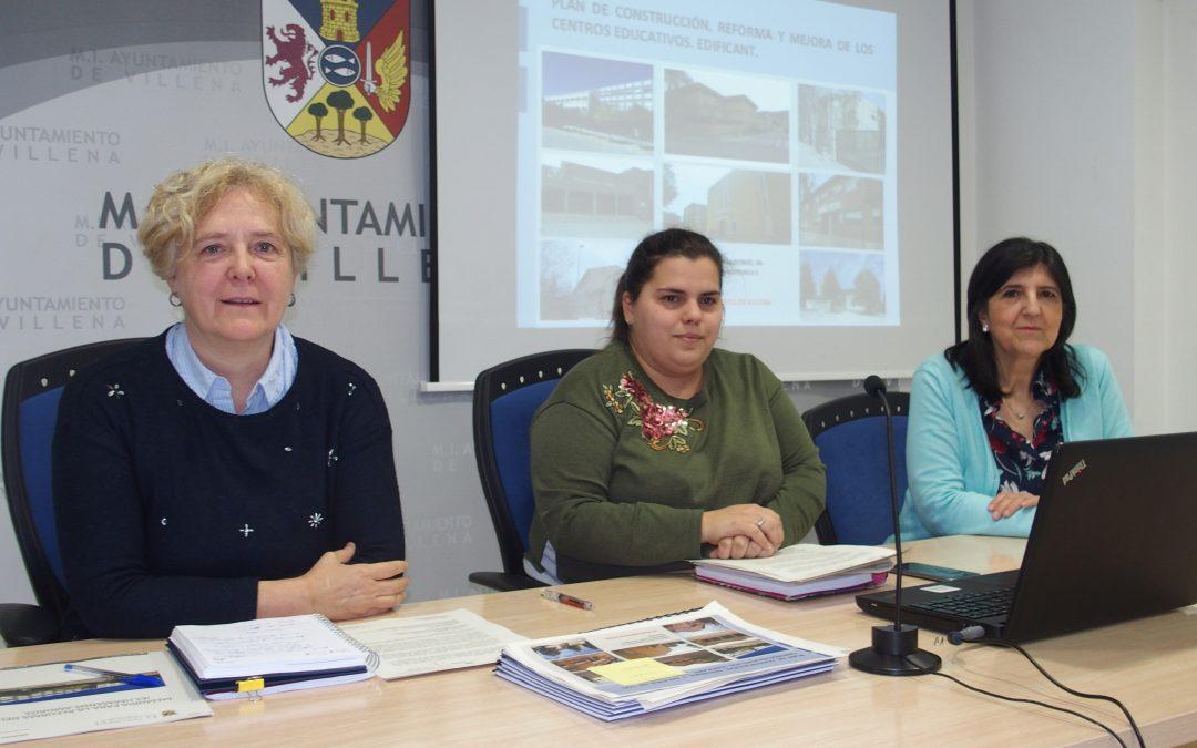 Inversión de más de 3 millones de euros para mejorar los centros educativos en Villena